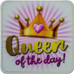 Möbelix Glasuntersetzer Queen Of The Day