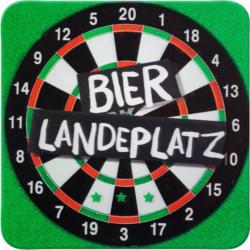 Glasuntersetzer Bier Landeplatz