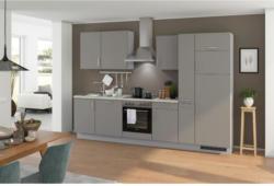 Einbauküche Küchenblock Möbelix Turin 310 cm Arktisgrau/Pinie