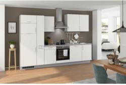 Einbauküche Küchenblock Möbelix Turin 310 cm Weiß/Arktisgrau