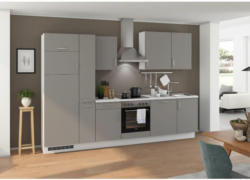 Einbauküche Küchenblock Möbelix Turin 310 cm Arktisgrau/Seidengrau