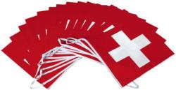 Guirlande de drapeaux suisses, 5 m -