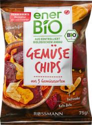 Chips di verdure enerBiO, 3 tipi di verdura, 75 g
