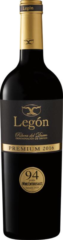 Legón Premium D.O. Ribera del Duero, 2016, Ribera del Duero, Spanien, 75 cl