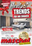 Maschal Einrichtungszentrum GmbH Herbst Trends für ihr Zuhause - bis 28.10.2020