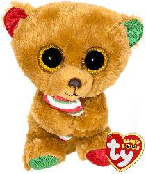 TY Bella Bär mit Zuckerstange 15cm Plüschfigur, Mehrfarbig