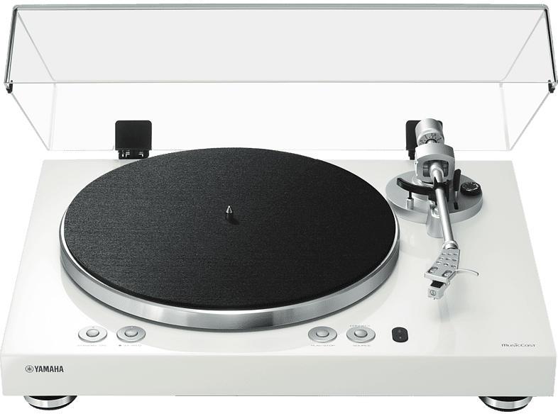 YAMAHA MusicCast Vinyl 500 Plattenspieler (Hochglanz lackiert Weiß)