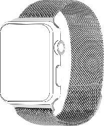 TOPP 40-37-1832, Ersatz-und Wechselarmband, Apple, Watch 38/40, Silber