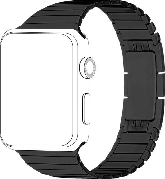 TOPP 40-37-1847, Ersatz-und Wechselarmband, Apple, Watch 42/44, Schwarz