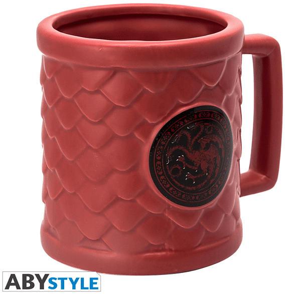 ABYSTYLE GAME OF THRONES 3D Targaryen Tasse, Mehrfarbig