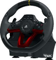 HORI Lenkrad Wireless RWA Racing Wheel Apex , Lenkrad + Pedalen, Schwarz/Rot