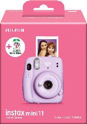 Fuji instax Mini 11 Kamera LILAC-PURPLE + 10er instax Mini Film