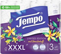 Tempo Toilettenpapier mit Vanilleduft 3-lagig XXXL PACK 32 Rollen -