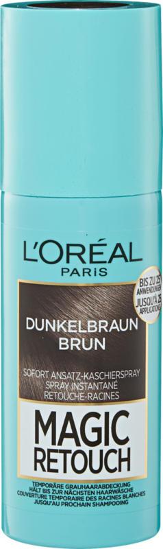 L'Oréal Haaransatzspray Magic Retouch Dunkelbraun, 75 ml