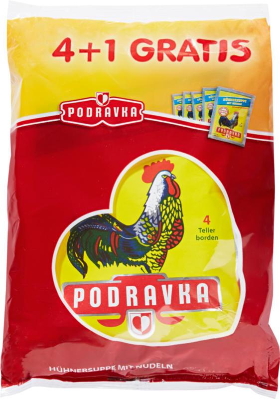 Podravka Hühnersuppe, mit Nudeln, 5 x 62 g