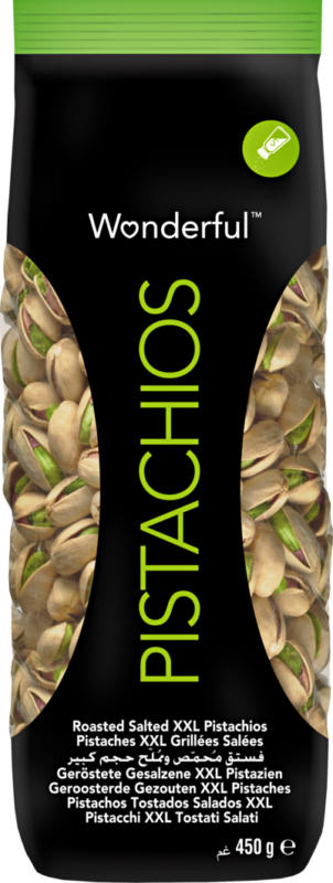 Pistacchi Wonderful , tostati e salati, 450 g