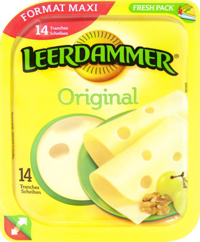 Formaggio Leerdammer, Original, 14 fette, 350 g