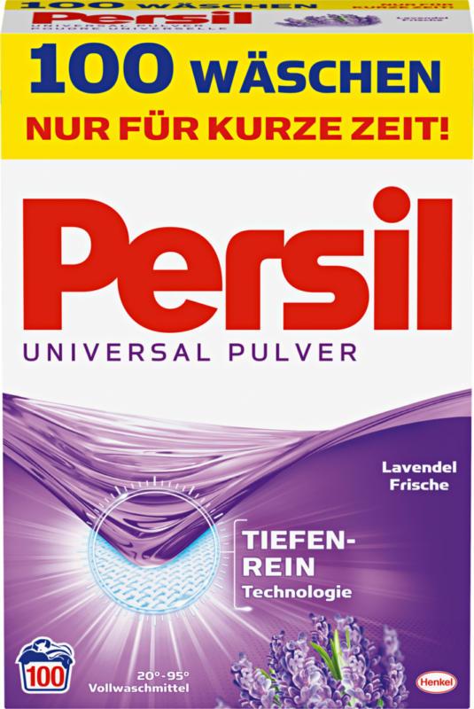 Persil Waschpulver Universal Lavendel-Frische, 100 Waschgänge, 6,5 kg