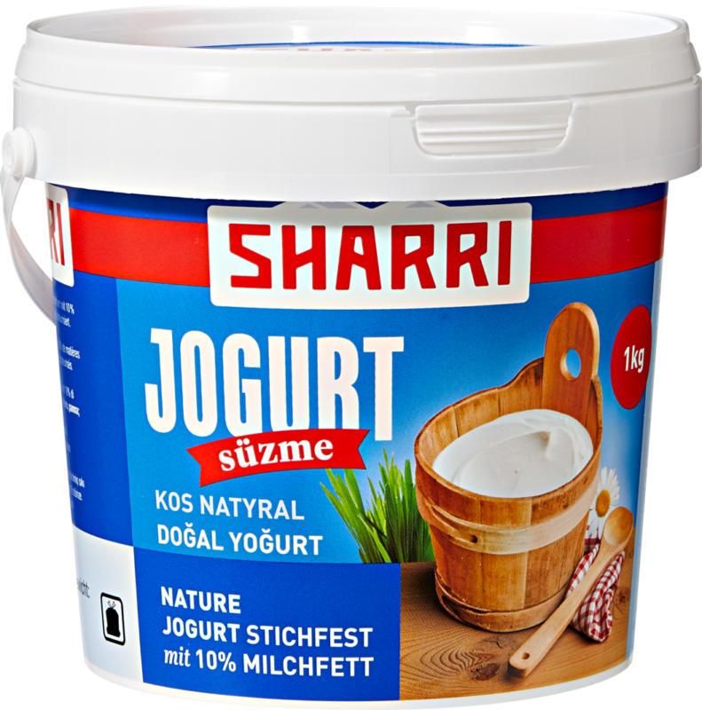 Yogurt al naturale Süzme Sharri, 10% di grassi, 1 kg