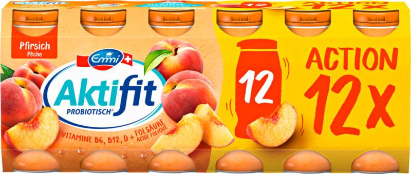 Emmi Aktifit Joghurtdrink, probiotisch, Pfirsich, 12 x 65 ml