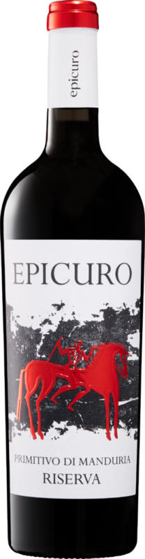 Epicuro Primitivo di Manduria DOP Riserva, 2017, Apulien, Italien, 75 cl