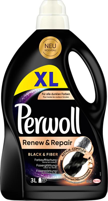 Detersivo per capi delicati Black Perwoll, 50 cicli di lavaggio, 3 litri