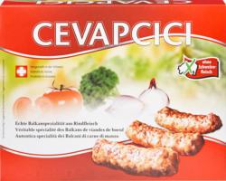 Cevapcici, de bœuf, sans viande de porc, Suisse, 2 x 400 g