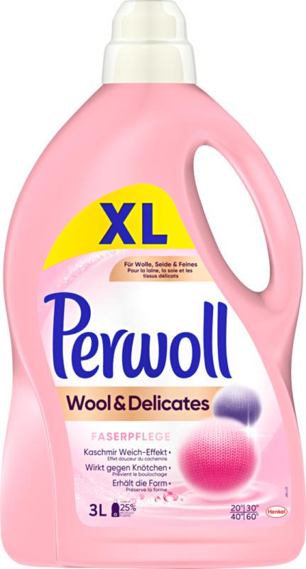 Lessive pour linge délicat Wool & Delicates Perwoll, 50 lessives, 3 litres
