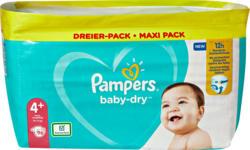 Pampers Baby-Dry Maxi Plus Windeln, Grösse 4+ (Maxi Plus), 10-15 kg, 96 Stück