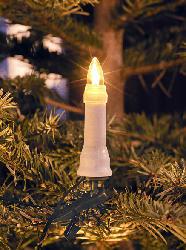 KONSTSMIDE Baum Lichterkette,  Weiße Kerzen/Grünes Kabel,  Warm weiß