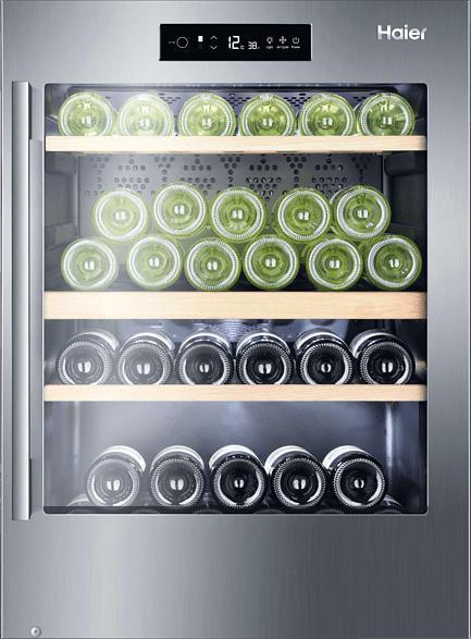 HAIER WS50GDAI Weinkühlschrank (142 kWh/Jahr, EEK A, Edelstahl)