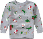 Ernsting's family Jungen Sweatshirt mit Weihnachts-Allover