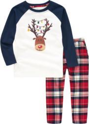 Jungen Schlafanzug im weihnachtlichen Dessin