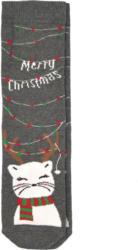1 Paar Damen Socken mit Weihnachts-Motiv