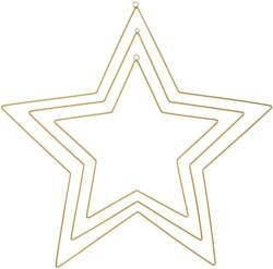 3 Metall-Sterne zum Aufhängen
