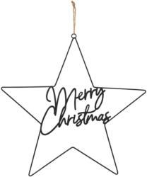 Deko-Hänger Stern mit Weihnachts-Schriftzug