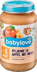 babylove Frucht & Getreide Pflaume in Apfel mit Grieß ab dem 6. Monat