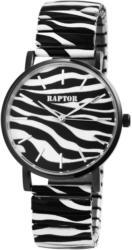 Raptor Damenuhr mit Zebramuster -