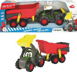 DICKIE TOYS Happy Farm Trailer Spielzeugauto, Mehrfarbig