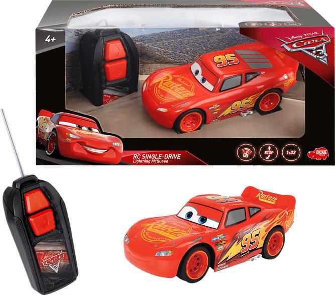 DICKIE TOYS RC Fahrzeug Cars 3 Lightning McQueen Single Drive RC Fahrzeug, Rot