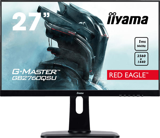 IIYAMA G-MASTER GB2760QSU-B1 27 Zoll WQHD Gaming Monitor (1 ms Reaktionszeit, FreeSync, 144Hz)