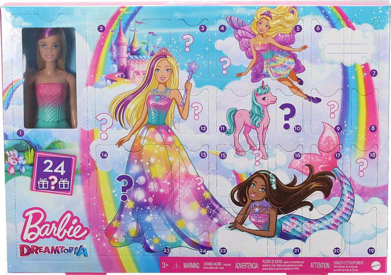 MATTEL Barbie Fairytale Adventskalender Adventskalender, Mehrfarbig
