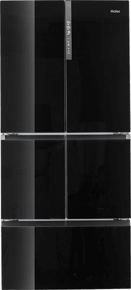 HAIER HFF-750 CGBJ  French Door Kühlgefrierkombination (298 kWh/Jahr, A++, 1909 mm hoch, Iconic Glass Black)
