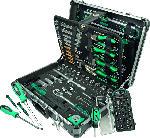 MediaMarkt MANNESMANN 29078 Werkzeugkoffer 160-teilig Handwerkzeug, Silber/Grün/Schwarz