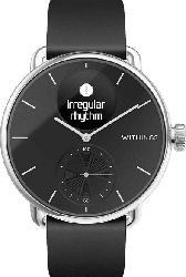 WITHINGS  ScanWatch Smartwatch Edelstahl, Silikon, 18 mm, Schwarz