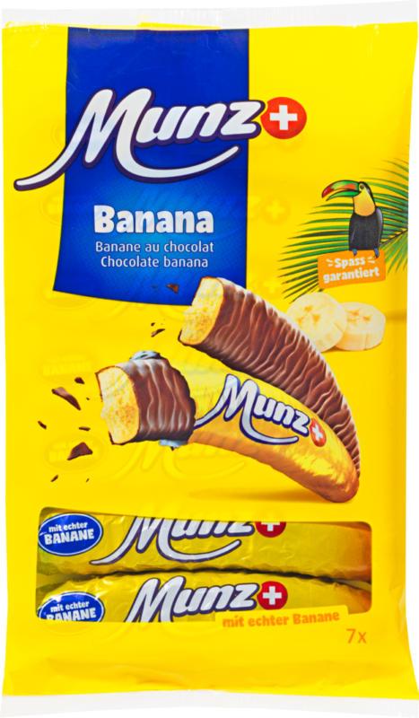 Banane al cioccolato Munz, 7 x 19 g