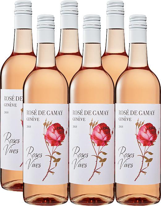 Roses Vives Rosé de Gamay de Genève AOC, 2020, Genf, Schweiz, 6 x 70 cl