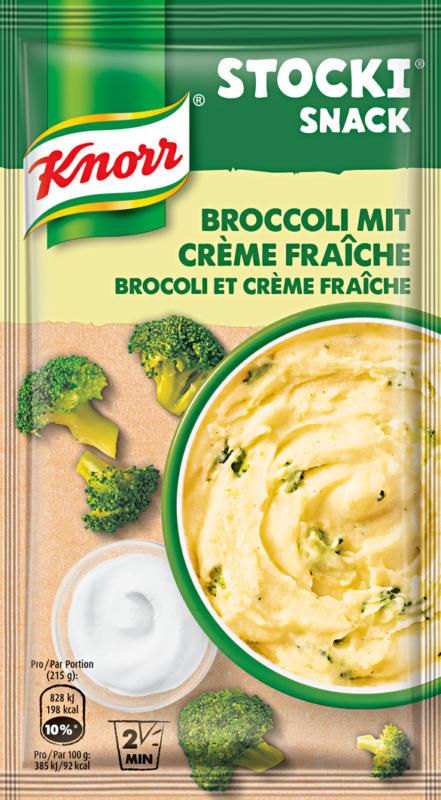 Stocki Snack Knorr, Broccoli e crème fraîche, 45 g