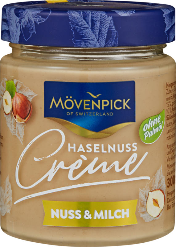 Mövenpick Haselnusscrème, Nuss & Milch, 300 g