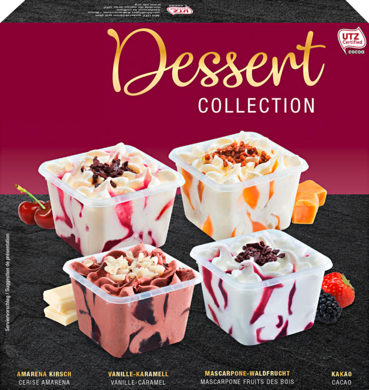 Glace Dessert Collection , 4 x 130 ml